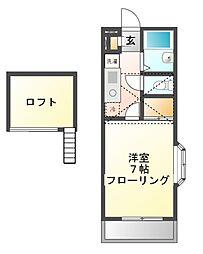 サンクレストT&T[1階]の間取り