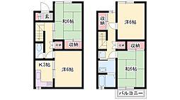[テラスハウス] 兵庫県加古川市尾上町口里 の賃貸【/】の間取り