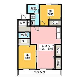 神領マンション[3階]の間取り