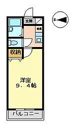 マンション大洋2[B-2号室 号室]の間取り