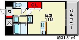 サンパティークメゾンK・I[4階]の間取り