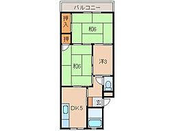 塩屋マンション[2階]の間取り