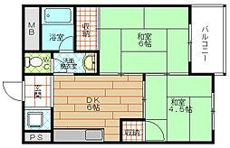 阪急西九条マンション[2階]の間取り