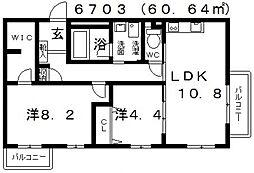 コンフォール(河内松原)[301号室号室]の間取り