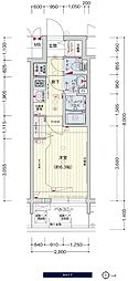 JR大阪環状線 鶴橋駅 徒歩3分の賃貸マンション 8階1Kの間取り