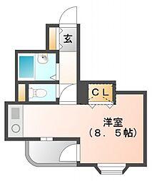 カルム香川[2階]の間取り