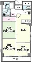 パークサイドマンション[205号室]の間取り