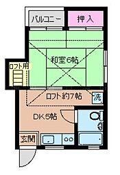 ハイツシライシ[2階]の間取り