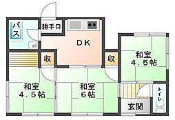 [一戸建] 愛媛県新居浜市多喜浜1丁目 の賃貸【/】の間取り