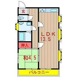 イワモトアパート[201号室号室]の間取り