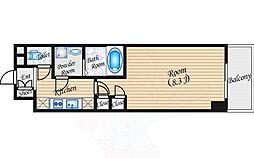 クレヴィアリグゼ江坂 4階1Kの間取り