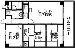 ソシアグランドール 吉田4 東花園13分[5階]の間取り