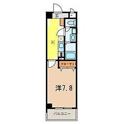 ボン クラージュ[4階]の間取り