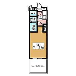 エステート茶屋ヶ坂[2階]の間取り