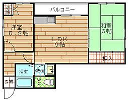 西田ハイツ[3階]の間取り
