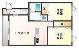 エスポワール24[3階]の間取り
