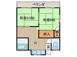 澤田荘[1階]の間取り