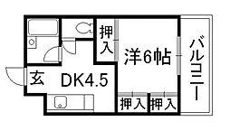 スカイロード東寺[2階]の間取り