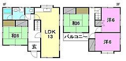 [一戸建] 愛媛県松山市畑寺2丁目 の賃貸【/】の間取り