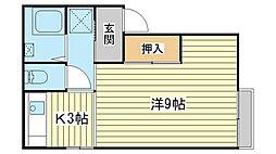 メゾン澤田[B102号室]の間取り