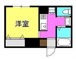 第2中村ビル[203号室]の間取り