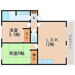 コーラルハイム[1階]の間取り