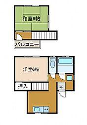 [テラスハウス] 神奈川県相模原市南区相模大野6丁目 の賃貸【神奈川県 / 相模原市南区】の間取り