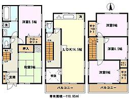 [一戸建] 埼玉県蕨市中央6丁目 の賃貸【/】の間取り