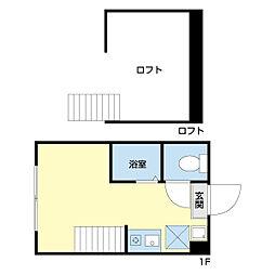 京急空港線 穴守稲荷駅 徒歩11分の賃貸アパート 2階ワンルームの間取り
