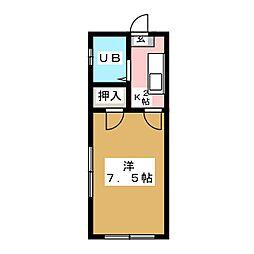 緑コーポ[1階]の間取り