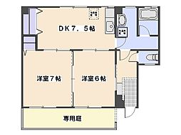 甲島ビル[101号室]の間取り