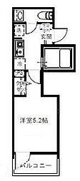 埼玉新都市交通 鉄道博物館(大成)駅 徒歩8分の賃貸アパート 3階1Kの間取り