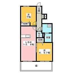 Rose B棟[1階]の間取り