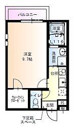 フジパレス吹田寿町5番館 1階1Kの間取り