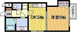 サザン桃山御陵[1階]の間取り