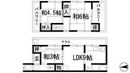 [一戸建] 兵庫県川西市下財町 の賃貸【/】の間取り