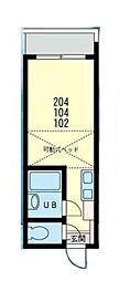 マリンコート浜須賀[102号室]の間取り