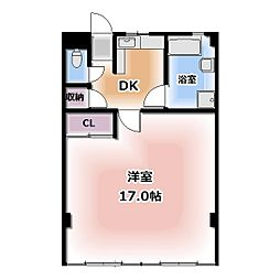 西春オカマンション[605号室]の間取り