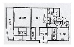 サンピア平和[5階]の間取り