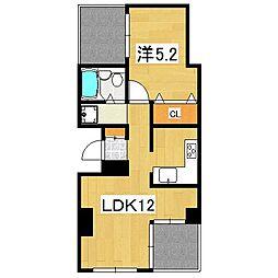 キャピタルハイツ[2階]の間取り