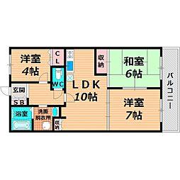 Osaka Metro長堀鶴見緑地線 鶴見緑地駅 徒歩10分の賃貸マンション 9階3LDKの間取り