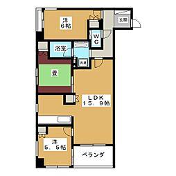 ロジュマン京都六角通[4階]の間取り