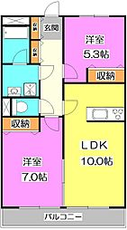 東京都練馬区富士見台4丁目の賃貸マンションの間取り