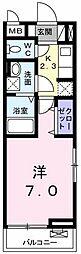 AJCスクエア C棟[0201号室]の間取り
