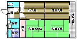 シャトー原山台[3階]の間取り