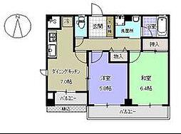 フラット湘南[2階]の間取り