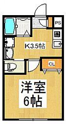 プチ・モンターニュ[1階]の間取り