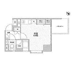 東京都中央区月島2丁目の賃貸マンションの間取り