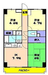 ラ・フォレ薬円台[603号室号室]の間取り