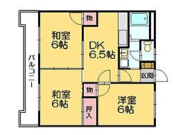 メゾンロード[2階]の間取り